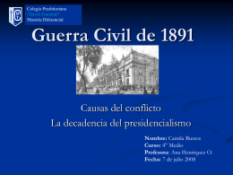 Guerra civil de 1891 - BLOGS DE ASIGNATURAS TRUMBULL