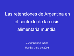 LA ESTRATEGIA DE INSERCION COMERCIAL DE ARGENTINA