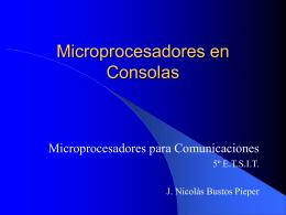 Microprocesadores en Consolas