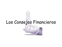 Los Consejos Financieros