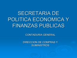 SECRETARIA DE POLITICA ECONOMICA Y FINANZAS …