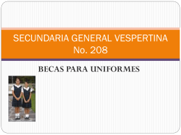 SECUNDARIA GENERAL VESPERTINA 208