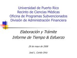 Universidad de Puerto Rico Oficina de Contratos, Fondos