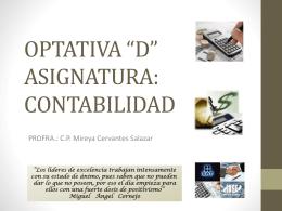 "OPTATIVA ""D"" ASIGNATURA: CONTABILIDAD"