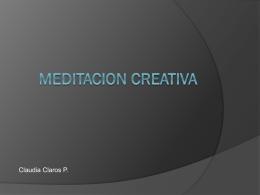 MEDITACION CREATIVA
