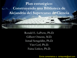 Strategic Plan: Building a Scientific Supercourse
