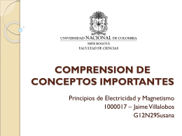 COMPRENSION DE CONCEPTOS IMPORTANTES