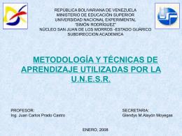 Diapositiva 1 - | UNESR San Juan de los Morros
