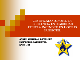 CERTIFICADO EUROPEO DE EXCELENCIA EN SEGURIDAD …