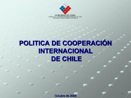 AGENCIA DE COOPERACION INTERNACIONAL