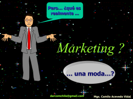 Marketing es una moda? - Syscomerubenmunoz's Blog