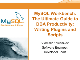 MySQL Workbench - O'Reilly Media