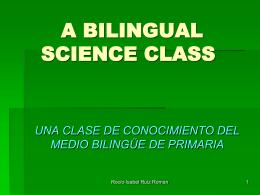A BILINGUAL SCIENCE CLASS