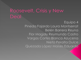 Roosevelt, Crisis y New Deal