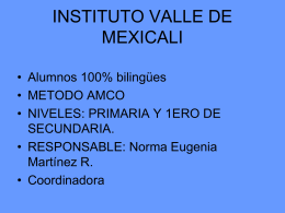 INSTITUTO VALLE DE MEXICALI