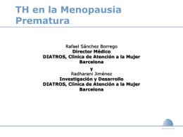 TH en la Menopausia Precoz