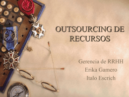 OUTSOURCING DE RECURSOS