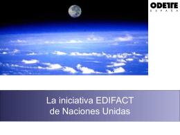 La iniciativa EDIFACT de Naciones Unidas