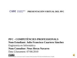 TFC-Bases de Datos Relacionales Julio Francisco Cuartero