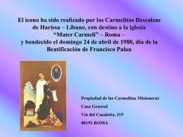 ICONO DEL BEATO FRANCISCO PALAU Y QUER