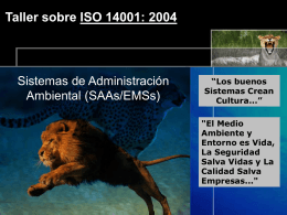 ISO 14001: 2004 - Auto Consulting