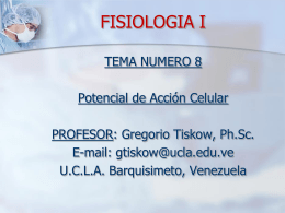 FISIOLOGIA I - Universidad Centroccidental