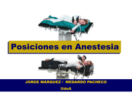 Surgical Positioning Anesthesia Related Complications