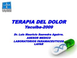 TERAPIA DEL DOLOR Yacuiba-2009