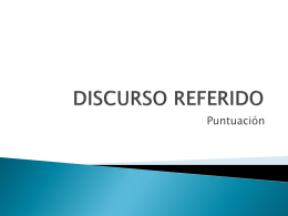 DISCURSO REFERIDO