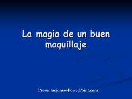 The Power of Makeup - Presentaciones Power Point