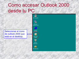 Como accesar Outlook 2000 desde tu PC