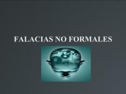FALACIAS NO FORMALES
