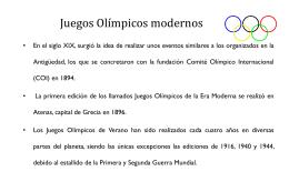 Modern Olymic Games
