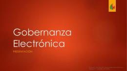 Gobernanza Electronica