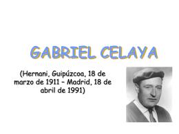 GABRIEL CELAYA - Lengua en Palomeras