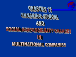 MULTINATIONAL MANAGEMENT IN A CHANGING WORLD