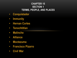 CHAPTER 7 Section 1 Terms, People, and Places
