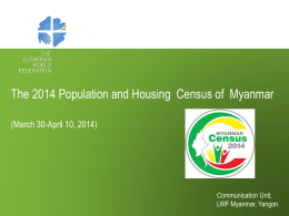 2014 Census in Myanmar