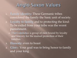 Anglo-Saxon Values - Scott County Preschool