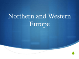 Northern and Western Europe