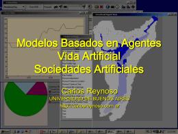 Modelos basados en agentes Vida Artificial Sociedades