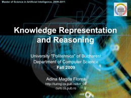 Knowledge Representation and Reasoning