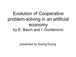 Evolution of Cooperative problem