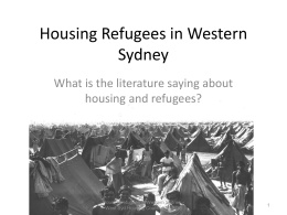 Housing Refugees in Western Sydney
