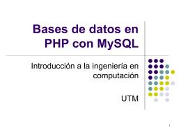 Bases de datos en PHP