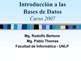 Introduccion a las bases de Datos - III-LIDI