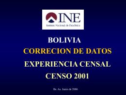 Proceso de datos I Censo Piloto