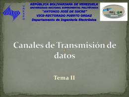 TRANSMISION DE DATOS - Sistemas de Comunicaciones