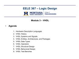 Logic Design - Montana State