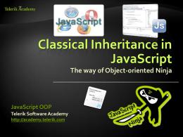 JavaScript OOP